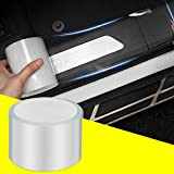 QBUC Car Door Entry Guards Scratch Cover Protector Paint Threshold Guard,Front Rear Door Entry Sill Guard Scuff Plate for Most Cars,2.7in9.8ft(7cm3m) Transparent