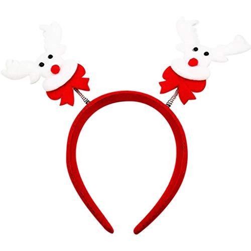 Dasongff Kerstmuts, Kersthoofdband, verschillende modellen, haarband, knuffelzacht en comfortabel om te dragen, voor kinderen en volwassenen 1 pc E