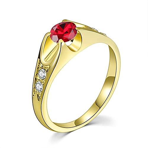 HHW Anillo De Diamantes para Mujer Simple Y De Moda Anillo De Propuesta del Día De San Valentín Anillo De Promesa Eterna,E,6