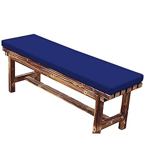 Waigg Kii 2 cojines impermeables para banco de 3 plazas, cojines de asiento de jardín para exteriores, 100/120 cm, almohadillas de banco para columpio de muebles de patio