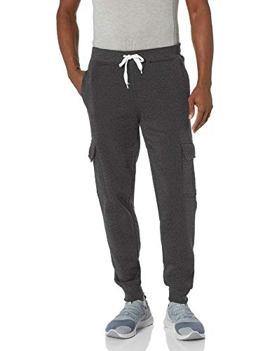 Southpole Big and Tall Men's Active Basic Jogger Fleece Pants, Heather Charcoal (Cargo), 4XB