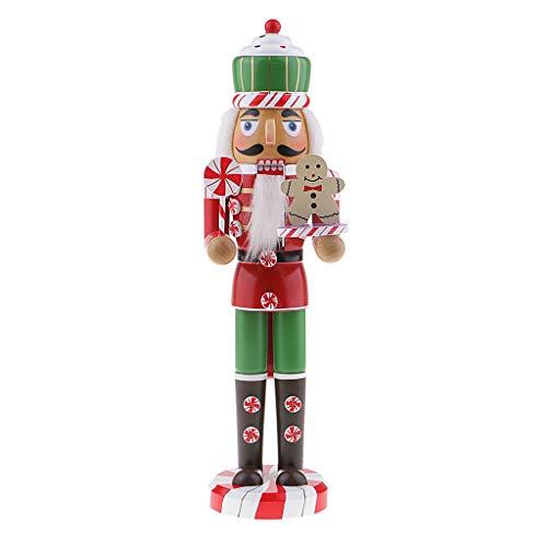 SM SunniMix Holzhandpuppe Wikinger Soldat Puppe Traditionelle Holz Weihnachten Nussknacker Walnüsse Dekoration - C