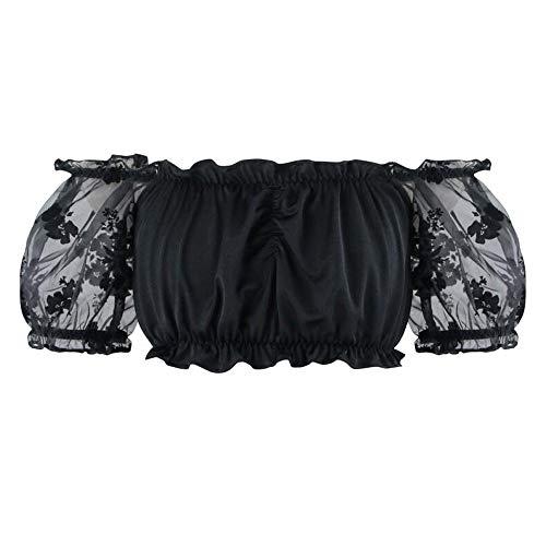 Zooma Damen Steampunk Corsage Top, Korsett Vollbrust mit Ärmel Taillen Korsage Vintage Gothic Corset Tanzparty Kleidung Bustier Bluse