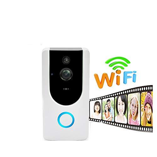 QZH Timbre De Video Inalámbrico, Timbre WiFi Walkie-Talkie 720P, Detección De Movimiento De Visión Nocturna, Llamada Bidireccional, Monitoreo De Teléfono Móvil, Soporte iOS/Android,Indoormachine