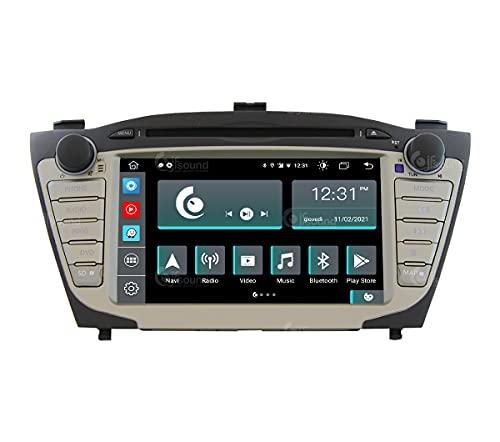 Autoradio Custom Fit per Hyundai IX35 Android GPS Bluetooth WiFi Dab USB Full HD Touchscreen Display 7' processore 8core e comandi vocali