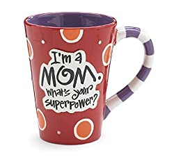 I'm A Mom, What's Your SuperPower? 12oz Coffee Mug Great Gift for Mother