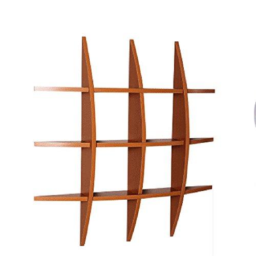 Estante Nan Liang Jiugongge Almacenamiento de partición de Madera sólida Sala de Estar - 75 * 17.5 * 75cm Color : Color Cereza, Tamaño : 75 * 75 * 10(Deep) cm