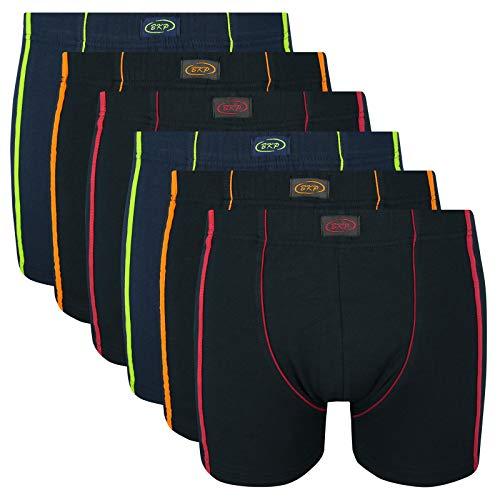 6er Pack Herren Boxershorts Übergröße M L XL 2XL 3XL 4XL 5XL 6XL 7XL 8XL Baumwolle Retro Streifen Unterhosen, Größe:4XL