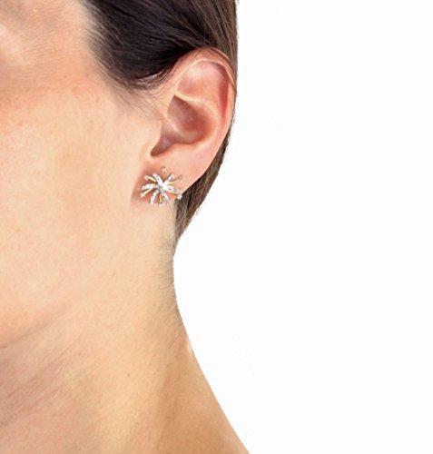 Carissima Gold 9ct Yellow Gold 0.10ct Diamond Snowflake Stud Earrings