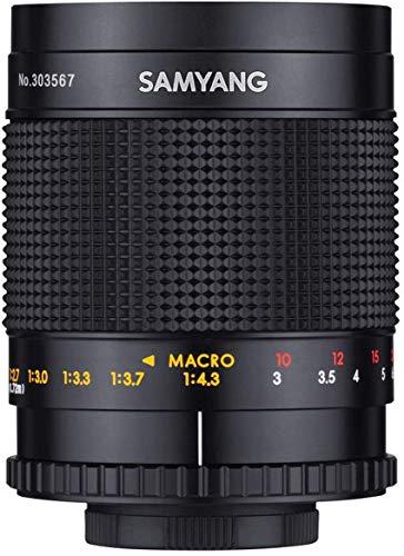 SAMYANG MF 500mm F8.0 Spiegelobjektiv T2 Gewinde – DSLR, CSC Teleobjektiv, manueller Fokus, Filterdurchmesser 72mm, für Vollformat und APS-C, 7580, schwarz
