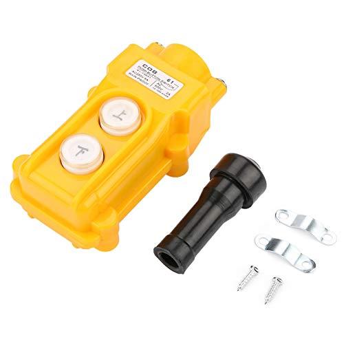 Eujgoov COB-61, polipasto de cadena de grúa, interruptor de botón, controlador, estación de control, colgante de elevación, controlador a prueba de lluvia