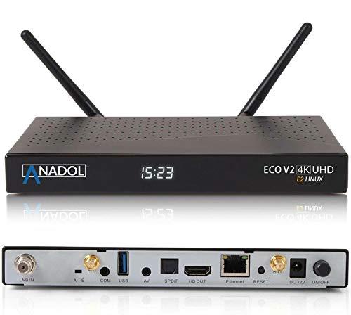 Anadol ECO 4K V2 Satellite Receiver Linux UHD 2160p H.265 HEVC E2 Linux Dual WiFi