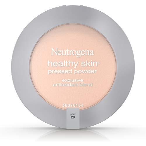 Neutrogena Healthy Skin Pressed Makeup Powder Compact with Antioxidants & Pro Vitamin B5, Evens Skin Tone, Minimizes Shine & Conditions Skin, Light 20,.34 oz