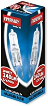 Eveready 10x 20w G4 20w 12v Dimmable Halogen Capsule Light Bulbs - Pack of 10