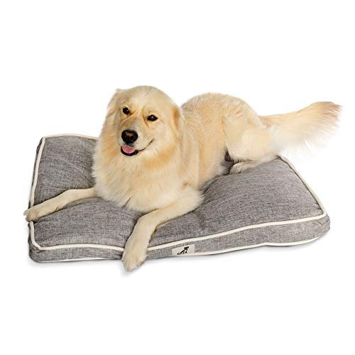 AllPetSolutions Alfie Range Beds - Large Durable Dog Bed Pillow Cushion (Grey)