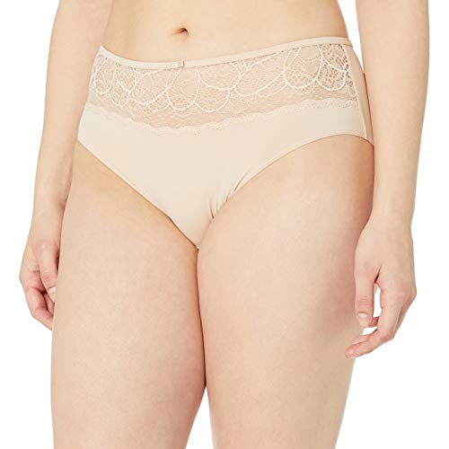 Bali Women's Lace Desire Microfiber Hipster, Champagne Shimmer, 8