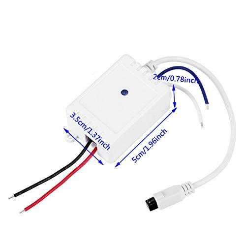 Kit de receptor de interruptor remoto infrarrojo IR de dos botones y 1 canal Módulo de control remoto inalámbrico de 12 V para aplicaciones domésticas Módulo de control remoto