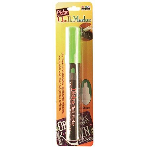 UCHIDA Chisel Tip Bistro Chalk Marker Art Supplies, Fluorescent Green