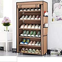 2001 International Advantageous Beige Shoe Rack for Home & Furniture, Shoe Stand of 6 Tier