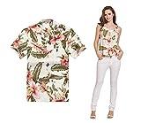 Par a Juego Hawaiian Luau Outfit Aloha Camiseta y Camiseta sin Mangas en Crema Rafelsia Hombre...