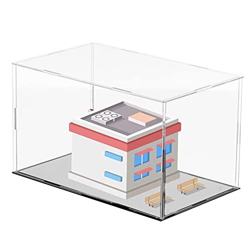 ROYCAR Vitrina de acrílico Transparente - Caja de mostrador en Forma de Cubo Soporte Vertical Autoensamblaje Vitrina a Prueba de Polvo para Juguetes coleccionables (7,9 x 7,9 x 9,8 Pulgadas)