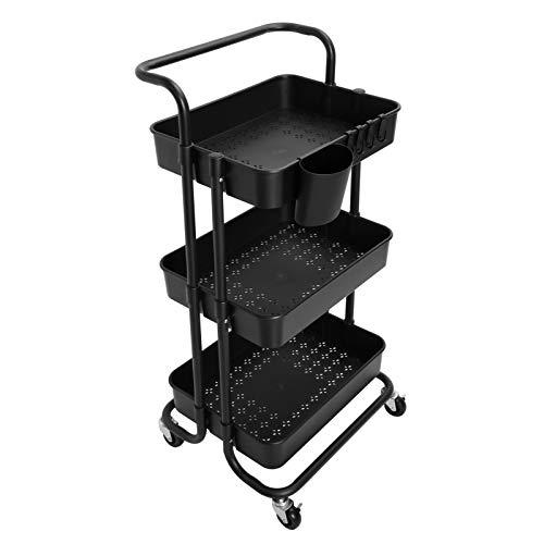 AYVANBER 3 Tier Storage Trolley Rolling Storage Cart Kitchen Organiser...