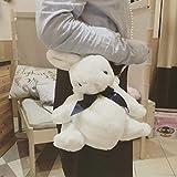 N / A Cute Girl Rabbit Mochila Lolita Silk Bow Soft Plush Toy Doll Bolso de Cadena de Perlas portátil de un Hombro para niñas 40cm