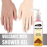 Hukz Vulkanschlamm Duschgel, Hautfreundliche Whitening Volcanic Mud Bademilch Body Wash Shower Gel...