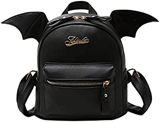 Max one Cute Little Devil Package Cartoon Rucksack Punk Stylish Backpacks Women Mini Bat Wings Backpack for Teenager Girls Lolita Cosplay Bag