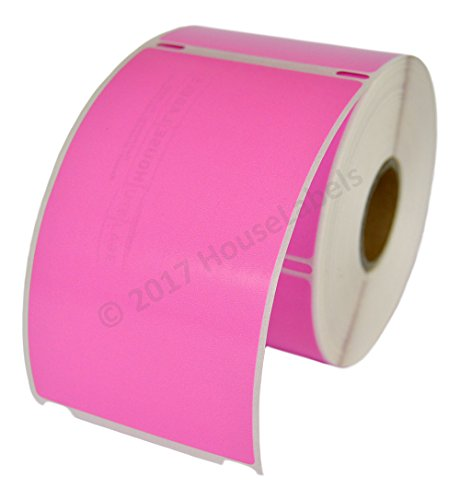 """6 Rolls; 300 Labels per Roll of Compatible with DYMO 30256 Pink Shipping Labels (2-5/16"""" x 4"""")"""