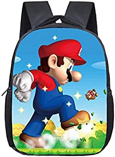 YUNMEI Super Mario Mochila Cartoon Mario Bolsa Infantil Kindergarten 3-4-6 Años Hijo Derliza Super Mary Medium Class Mochila.
