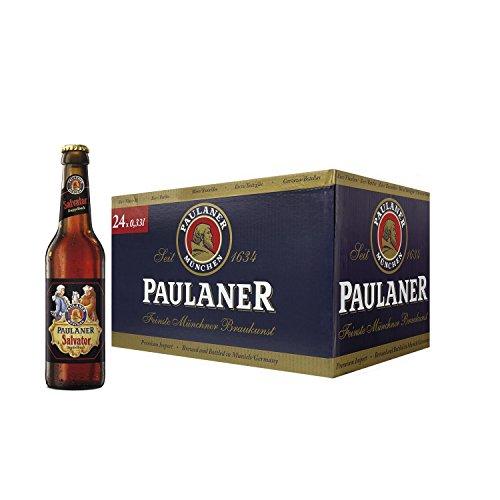 Paulaner Salvator Cerveza - Caja de 24 Botellas x 330 ml - Total: 7.92 L