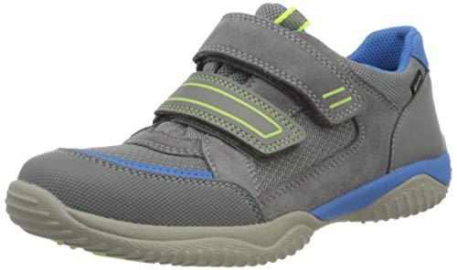 Superfit Jungen Storm Sneaker, Grau (Hellgrau/Blau 25), 38 EU