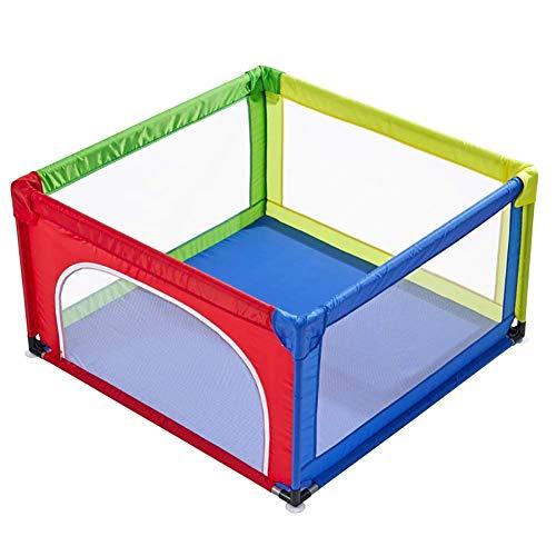 NMDCDH Corralitos para bebés extragrandes, portátil ensamblado, Interior de Seguridad para bebés, Patio de Juegos, Valla para Gatear para niños, Multicolor (tamaño: 120120cm)