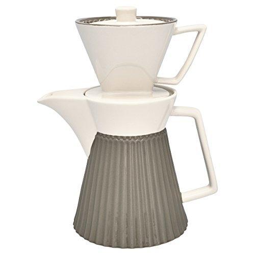 GreenGate STWCOFWAALI8302 Alice Kaffeekanne mit Filteraufsatz warm Grey 25cm (1 Stück)
