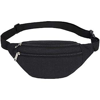 MAXTOP Bumbag Waist Fanny Pack for Men Women Unisex Bum Bag with Headphone Jack