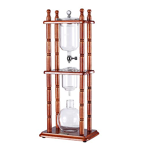 Coffee Machine Deep Extraction Considerable Fragrant Frame Cold Brew Way Drip Coffee Traditional Manual Brewer Makers with Glass Pot Stainless Steel Control Valve