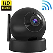 IP Camera, Dome Camera - 1080P Wireless Indoor Security Surveillance System with Night Vision for Home/Office/Baby/Nanny/Pet Monitor with iOS, Android App