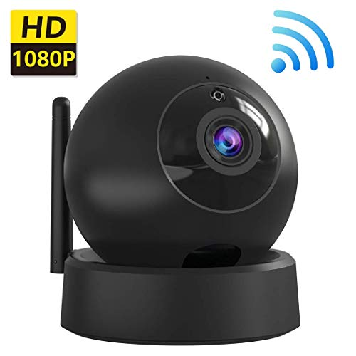 Security Camera WiFi IP Camera - HD Home Wireless Baby/Pet Camera with Two-Way Audio Motion Detection Night Vision Remote Monitoring, Indoor Surveillance Dome Camera - Black
