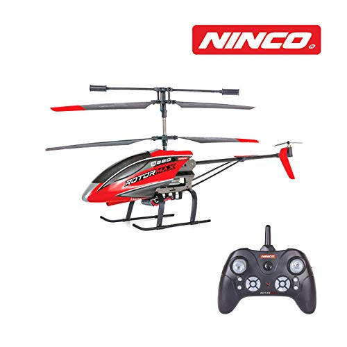 Ninco NH90136 NincoAir Rotormax. Helicóptero teledirigido de iniciación. Color Rojo. A Partir de 8 años