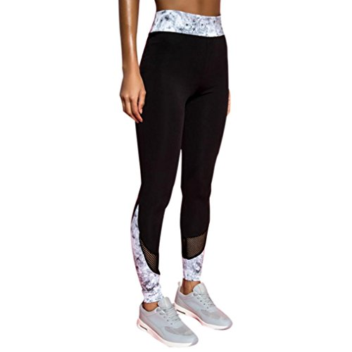 Sports Pants, Neartime Women's Fashion Workout Leggings Fitness Casual Gym Running Yoga Athletic Pants (M, Black)