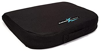 Xtreme Comforts Office Chair Cushions - Pack of 1 Large Padded Foam Seat Cushion w/ Handle for Desk Wheelchair Car & Outdoor Use