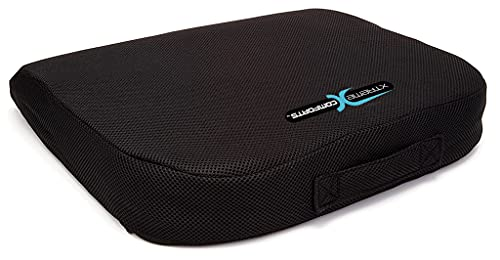 Xtreme Comforts Office Chair Cushions - Pack of 1 Large Padded Foam Seat Cushion w/ Handle for Desk, Wheelchair, Car & Outdoor Use