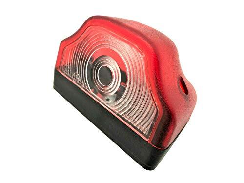 Rot Kennzeichenleuchte, Nummerschildleuchte, Kennzeichenbeleuchtung für Anhänger, Baumaschinen, Wohnmobile, Trailer, Wohnwagen, LKW usw.