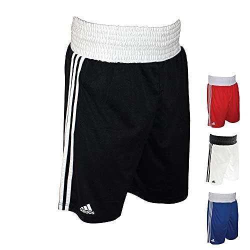 adidas Base Punch - Pantaloncini da Boxe da Uomo, Uomo, Base Punch - Pantaloncini da Boxe, da Uomo, Taglia M, Colore: Nero, ADIBTS02/BLKM, Nero, M