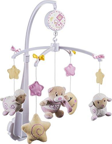 Bieco Musik-Mobile Baby Bär Petrilla | Spieluhr Baby Mobile | Babymobile für Bett | Beobachten, Lauschen & Staunen | Guten Abend, Gute Nacht |  Ab 0 Monaten 0 Jahren | Kinderbett mobile baby musik