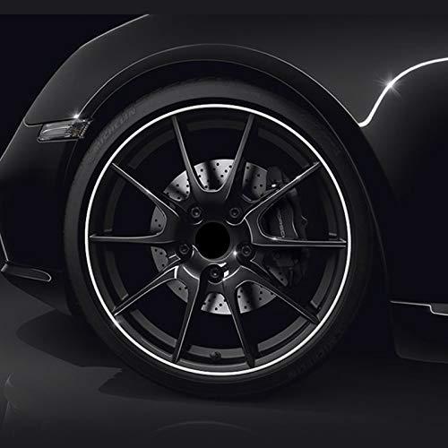 (Plata) PVC hecho de rueda de coche Trim Ring Shell Ring para llantas de 13-22 pulgadas