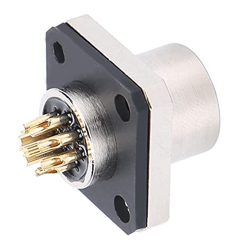 Gaeirt Toma de Brida, Funciona sin Problemas. Conector Impermeable Seguro y confiable. con clasificación de impermeabilidad IP67 con Enchufe para Suministros industriales M12-H-S8 para Interiores