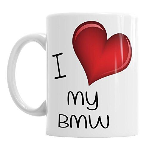 Ik hou van mijn BMW Koffie Thee Hot Chocolade Mok Verjaardag Kantoor Auto Valentines