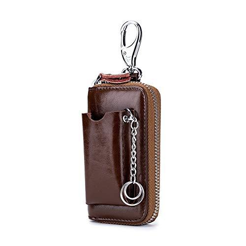 Portachiavi per auto Genuine raccoglitore chiave di cuoio degli uomini della pelle bovina Portafoglio supporto di chiave dell'automobile dei nuovi uomini di cassa del sacchetto Keys Organizzatore Gove
